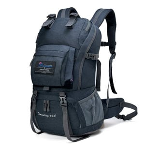 6. Mountaintop Hiking Pack 40 Liter Capacity with Rain Cover cb0f5ee30f964