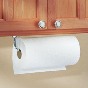 Interdesign Clico Paper Towel Holder For Kitchen Bathroom Wall Mount Under Cabinet Chrome