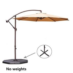 Perfect For Any Outdoor Setting, This Patio Umbrella Never Fails To  Impress. It Looks Elegant With Its Beige Canopy, Which Is UV Resistant.