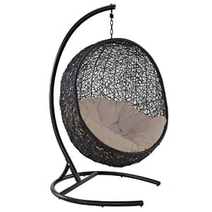 Topping Our List Of This Wicker Swing Chair Review Is This Item From  Modway. It Features A Stunning Contemporary Style That Is Absolutely  Gorgeous.