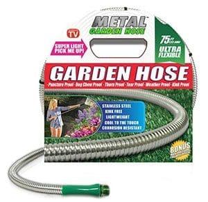 75 Foot Durable Metal Garden Hose