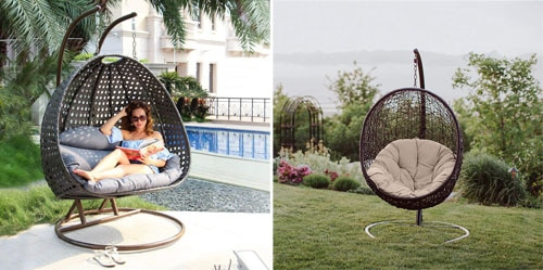 Top 10 Best Outdoor Wicker Swing Chair With Stand In 2019 Reviews    TenBestProduct