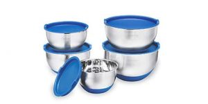 Top 10 Best Stainless Steel Non-Slip Mixing Bowls with Lids in 2021 Reviews