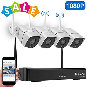 firstrend 1080p 8-channel wireless security cameras system